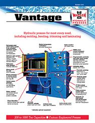 Wabash MPI offers new literature featuring its Vantage Series Vacuum chamber molding and laminating presses.