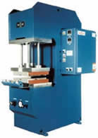 C-Frame hydraulic compression molding presses.