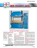 400 ton large platen compression press literature.