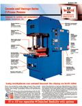 Literature on C-Frame compression molding equipment.