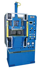 Transfer molding presses for rubber molding and plastic molding.